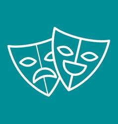 Theater masks festival cinema vector