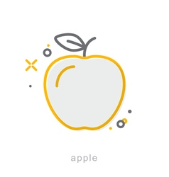 Thin line icons Apple vector image