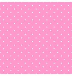 Tile white polka dots pink on background pattern vector image vector image