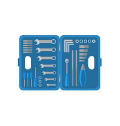 tool kit construction toolbox instruments of vector image