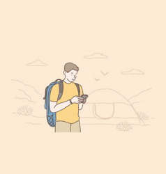 travel tourism or weekend concept vector image