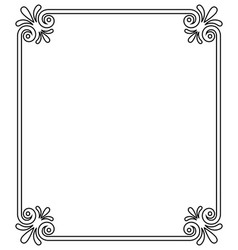 vintage frame with ornamental decor element corner vector image