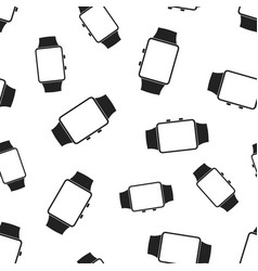 watch clock seamless pattern background business vector image