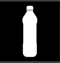 water plastic bottle the white color icon vector image