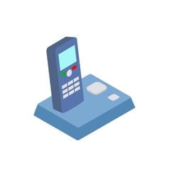 Wireless telephone icon isometric 3d style vector