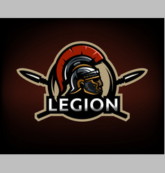 a warrior of rome a legionary against the vector image