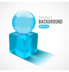 Abstract background with transparent glass shapes vector image vector image