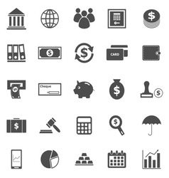 Banking icons on white background vector image