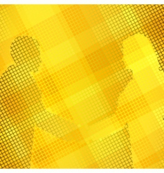 golden handshake vector image