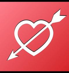 Heart Arrow Love vector image vector image