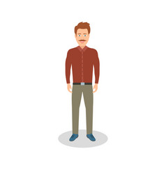 man casual dressed business man vector image vector image