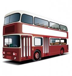 double-decker bus vector image
