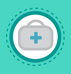 first aid kit icon online consultation button vector image vector image