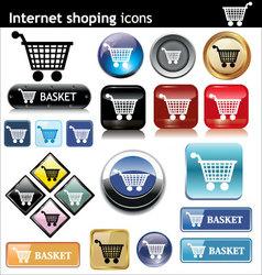 internet shopping e commerce vector image vector image