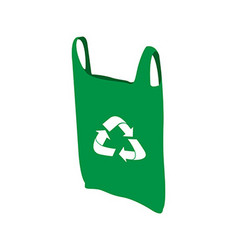 Isolated recyclable icon vector image vector image
