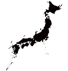 japan map outline vector image