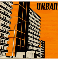 Orange Urban City vector image