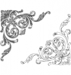 ornamental corners vector image