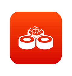 sushi icon digital red vector image vector image