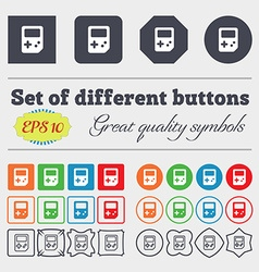 Tetris icon sign Big set of colorful diverse vector image vector image