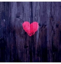 Valentine heart on wooden background vector image
