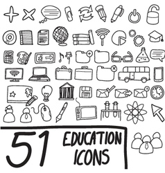 51 icons vector image vector image