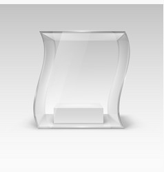 glass showcase in wave form for presentation vector image vector image