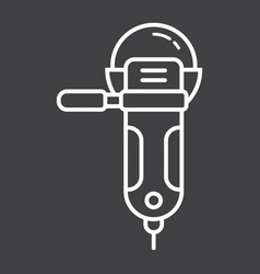 angle grinder line icon build and repair cutter vector image