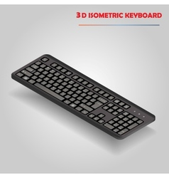 Black 3d computer keyboard vector image