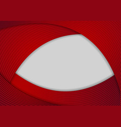 red and grey abstract wavy background vector image vector image