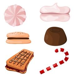 Set of sweets Cartoon eps10 vector image vector image