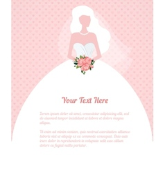 wedding invitation young woman silhouette vector image