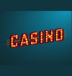 3d retro casino sign vector image