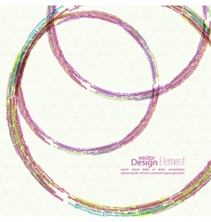 Abstract background with colored round hoops vector