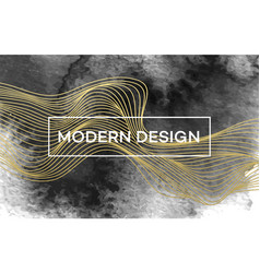 Abstract background with golden waves and black vector