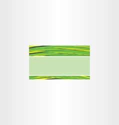 Abstract green business card template background vector
