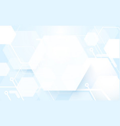 abstract hexagonal on soft blue background vector image