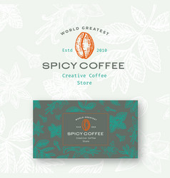 abstract spicy coffee logo and business vector image