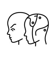 Artificial intellect line icon concept sign vector