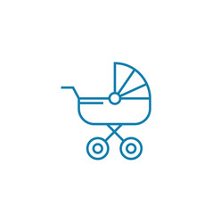 baby carriage linear icon concept baby carriage vector image