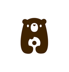 bear cub baby donuts logo icon vector image