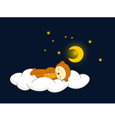 bear sleeping vector image