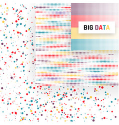 big data visualization analysis of information vector image