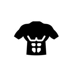 Body abs icon vector