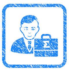 Bookkeeper framed stamp vector