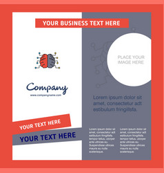 brain company brochure template busienss template vector image