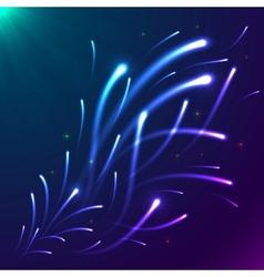 Bright colors shining neon lights vector