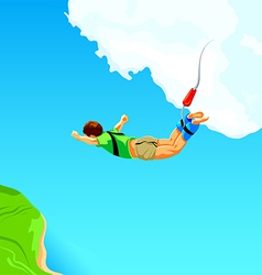 Bungee jumping vector image