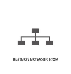 business network icon simple flat style vector image