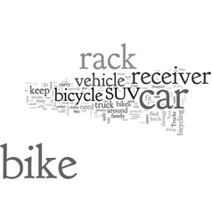 Car receiver bike racks for suvs and trucks vector